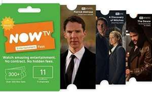 Now tv 1 month sky entertainment pass £1.99 Dispatched from and sold by 3 P Kidd Amazon