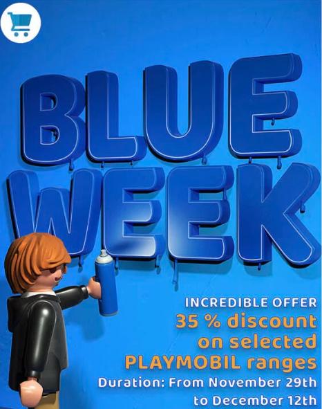 Playmobil.co.uk -58% Blue Week Sales