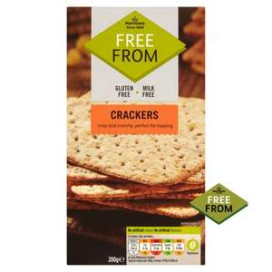 Free From - Crackers 200g at Morrisons for 60p
