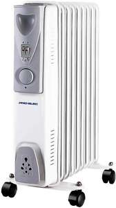 Pro Elec 9 Fin 2KW Oil filled heater radiator white with free delivery only £25.50 CPC Farnell