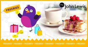 FREE HOT DRINK AND CAKE for John Lewis & partners members