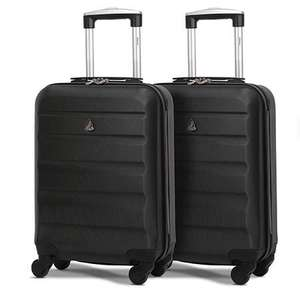 Aerolite (55x35x20cm) Lightweight Hard Shell Cabin Hand Luggage (x2 Set) for £32.56 delivered at Packed Direct