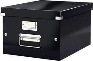 Leitz A4 Storage Box - Medium, Black at Amazon for £5.99 (add-on items with £20 spend)