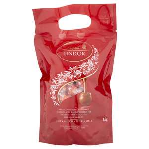 Lindt Lindor Milk Chocolate Truffles Bag - approx. 80 Balls, 1 kg £13.99 + £4.49 delivery Non Prime @ Amazon