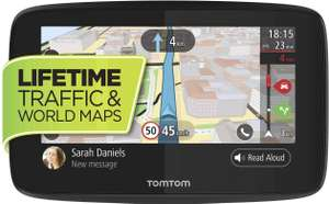 TomTom Car Sat Nav GO 620, 6 Inch with Handsfree Calling, Siri, Google Now, Lifetime Traffic via Smartphone&World Maps £139.99 @ Amazon