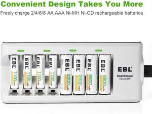 EBL 808 Battery Charger (Inc 4x2800mAh AA and 4x1100mAh AA) £16.49 Amazon Prime / £20.98 NP Sold by EBL Official and FBA