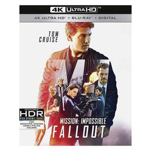 Mission Impossible Fallout - 4K UHD Blu-Ray £11.19 Wow HD