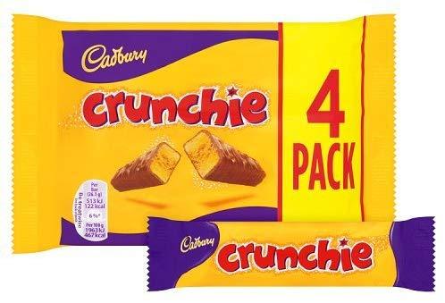 Cadbury Crunchie Chocolate Bar 4pk 82p (Add on) @ Amazon
