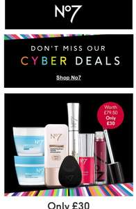 Save 25% on 100s of No7 products on Cyber Monday