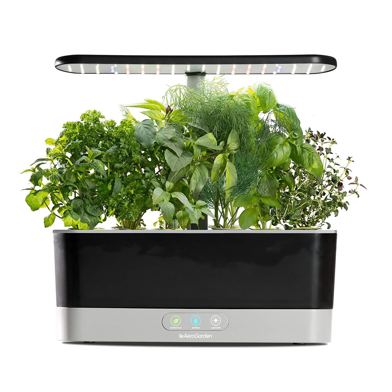 AeroGarden Harvest Slim with Gourmet Herb Seed Pod Kit @Amazon