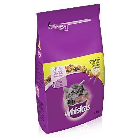 Whiskas dry kitten food 4 x 2kg bags £12 (Prime) / £16.49 (non Prime) / £10.40 S&S Amazon