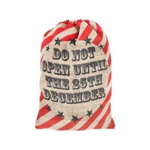 Jute Xmas sack - only £1 (In store) poundland