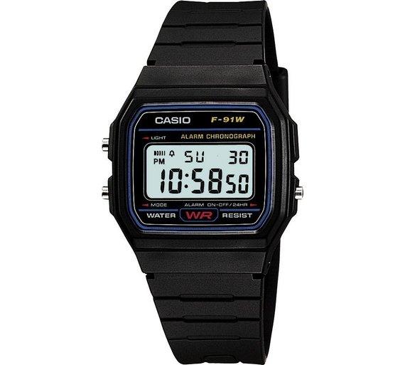 Casio Men's Black Resin Strap Watch £7.49 @ Argos