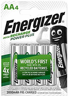 Energizer Rechargeable Batteries AA Power Plus, 4 Pack £4.73 (Prime) / £9.22 (non Prime) at Amazon