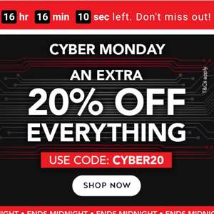Extra 20% off @ H&B including Black Friday discounts