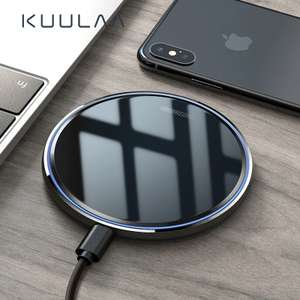 10W Qi Wireless Charger - White OR Black £3.53 delivered (£1.17 with new customer coupon) @ AliExpress deals / Kuulaa official store