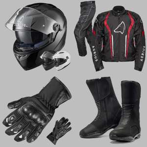 Motocycle Full Kit - Agrius Rage SV Helmet, Boots, Jacket, Trousers & Gloves £200.56