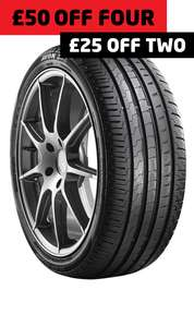 £25 off two or £50 off 4 Avon mid-range tyres, various sizes available at ATS Euromaster