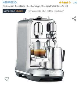 Nespresso Creatista Plus by Sage, Brushed Stainless Steel £249 Amazon
