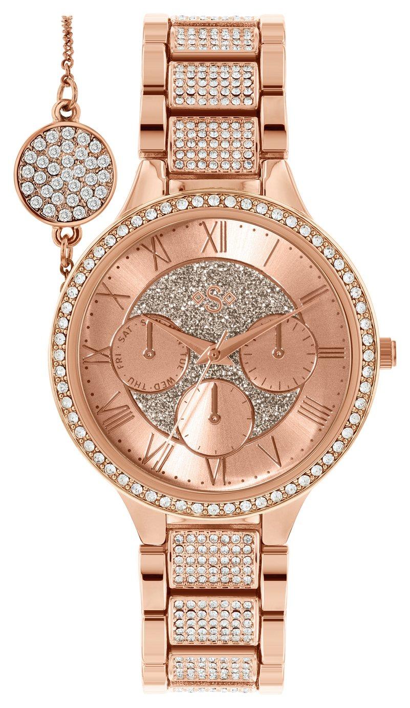 Spirit Lux Ladies' Rose Glitter Dial Watch and Bracelet Set - £14.99 @ Argos