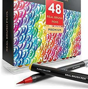 Arteza Real Brush Pens 48 colours, £17.90 (Prime) / £22.39 (non Prime) Sold by Arteza Europe and Fulfilled by Amazon.