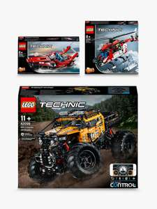 LEGO Technic 42099 4x4 X-Treme Off-Roader, 42092 Rescue Helicopter & 42089 2-in-1 Power Boat (bundle) £150 delivered - John Lewis