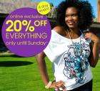20% discount on EVERYTHING @ Evans Clothing (until 1st March) !