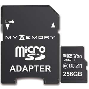 MyMemory 256GB V30 PRO Micro SD (SDXC) A1 UHS-1 U3 + Adapter - 100MB/s/70MB/s R/W(Lifetime Warranty) for £19.99 Delivered @ Mymemory