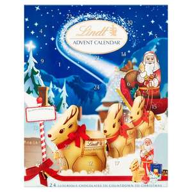 Lindt Chocolate Advent Calendar £160g now £3 instore @ Morrisons