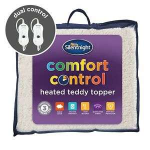 Silentnight Comfort Control Heated Teddy Topper - Dual Control With Straps - £42.89 @ branded_bedding