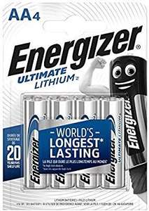 Energizer Lithium AA batteries 4 pack down to £5 @ Amazon (Add on item)