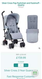 Silver cross pop2 stroller and footmuff. All 3 colours - £159.99 @ Discount Baby Equipment