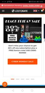 30% off all loot crate subscriptions