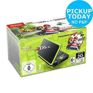 Nintendo 2DS XL Console with Mario Kart 7 - Black / Green 7+ Years for £90.24 With Code Free C&C @ Argos/Ebay