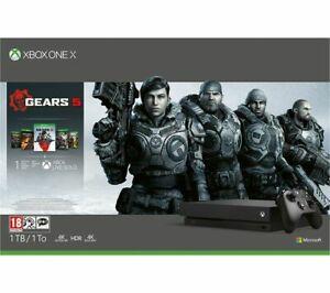 Microsoft Xbox One X - 1TB with Gears 1 - 5 Bundle - £284.05 @ Currys/eBay + 6x Nectar Points