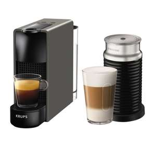 Nespresso by Krups Essenza Mini XN111B40 - Grey, with Aerocinno £99 at ao.com