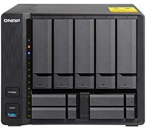 "QNAP TS-932X-2G, 5x 3.5"" + 4x 2.5"" drive bay, 2GB RAM, Hybrid NAS Enclosure, 3.5"" + 2.5"" drive bays with dual 10GbE ports £482.64 @ Amazon"