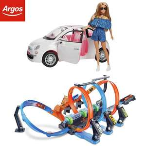20% Off Barbie, Hot Wheels and Fisher-Price toys with code @ Argos e.g Barbie Fiat Car and Doll Set £24
