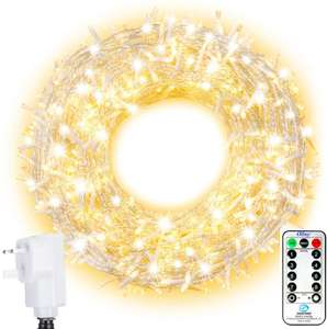 100 metres of fairy lights(warm) £16.99 sold by OllnyDirect and Fulfilled by Amazon.