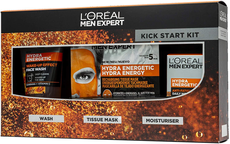 L'Oreal Men Expert Kick Start Hydra Energetc Gift Set For Him: Wash, Tissue Face Mask & Moisturiser £6.50 prime / £10.99 non prime @ Amazon