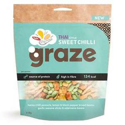 Graze Sweet Chilli Thai Style Nuts 118g 79p @ Heron Foods Birmingham