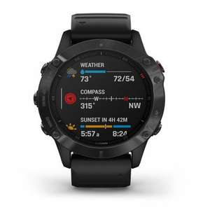 Garmin 010-02158-02 Fenix 6 Black Silicone Pro and Sapphire Smartwatch £465.59 @ Tic Watches