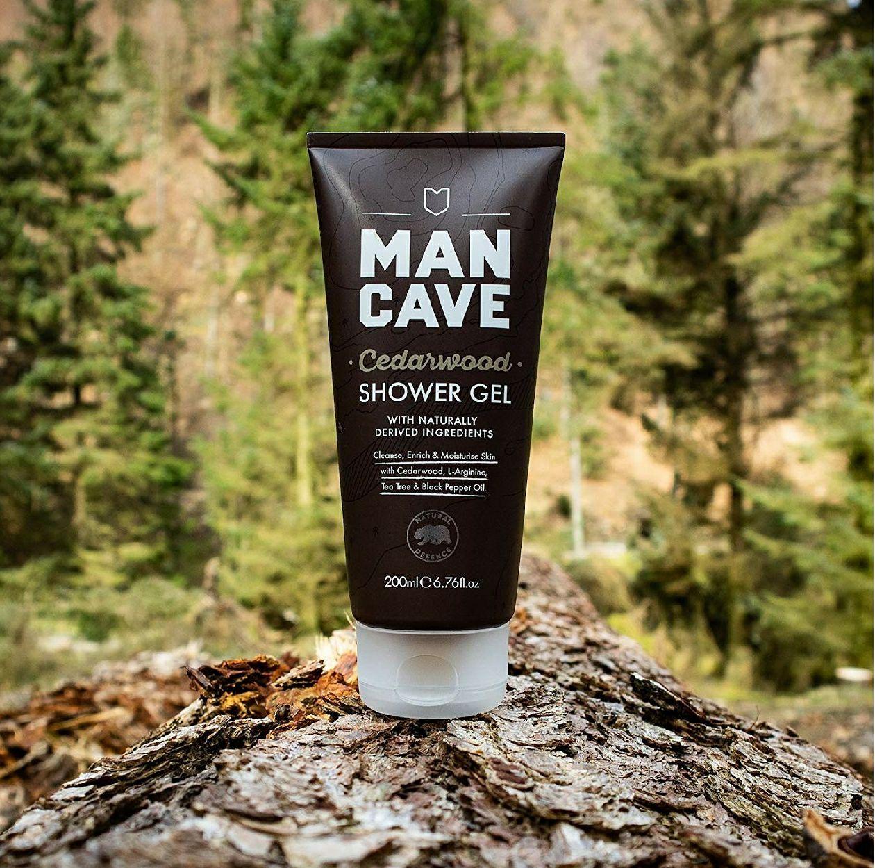 Mancave shower gel. Cedarwood £1.70 @ Amazon (Add On)