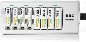Battery Charger with 2800mAh AA & 1100mAh AAA Rechargeable Batteries (4 Packs) £13.49 (Prime) / £17.98 (nonPrime) Sold by EBL Official & FBA