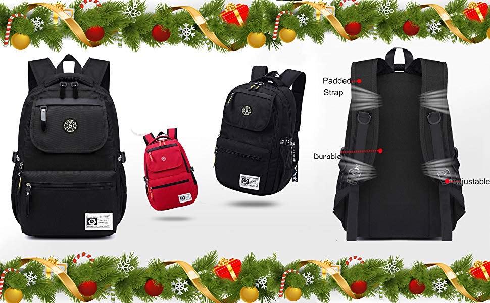 SUPA MODERN Unisex Nylon School Bags Waterproof Hiking Backpack Sports Backpack Laptop Rucksack School Backpack@Amazon
