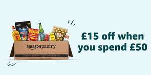 £15 off £50 on selected items @ Amazon Pantry