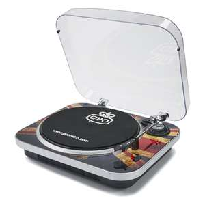 GPO Retro Jam 3-Speed Stand Alone Vinyl Turntable with Built-In Speakers £24.99 on Zavvi