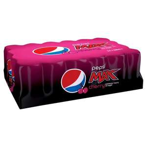 Pepsi Max Cherry Cans 24 X 330ml for £5 @ Tesco