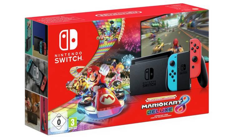 Nintendo Switch Neon Console and Mario Kart 8 Deluxe Bundle - £279.99 @ Argos