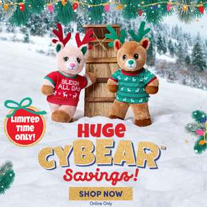 Jolly Reindeer Boy / Girl bear £8 plus £3.99 p&p limited CyBear sale @ Build a Bear